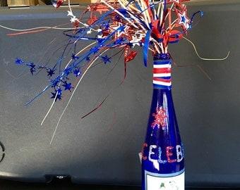 Patriotic Wine Bottle