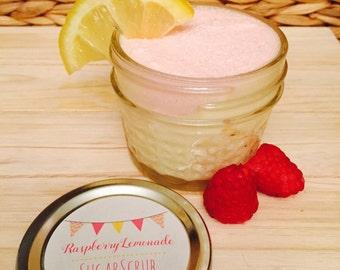 Homemade Raspberry Lemonade Sugar Scrub