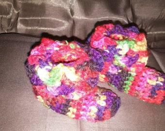 Crochet Crocodile Stitch Baby Booties