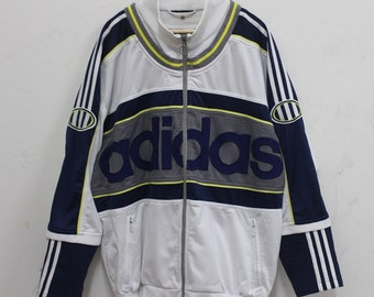 Vintage Adidas treefoil Sweater  90's Big Logo Hip Hop Rare