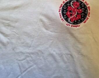 Anchor bible verse applique tshirt