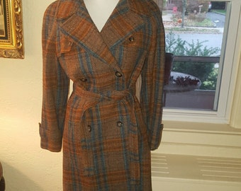 Trimingham  wool 60's-70's trench coat L-XL
