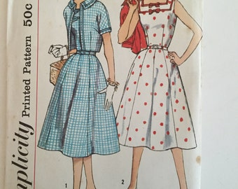 Simplicity 2507 Vintage sewing pattern for dress and jacket. Size 14 1/2