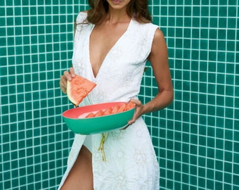 White wedding beach dress