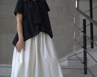 Cotton skirt white