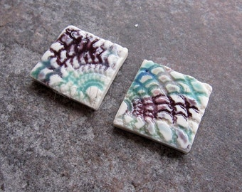 Ceramic mosaic tiles, blue and purple mosaic tile, porcelain mosaic tiles, ceramic jewellery components, mosaic supplies