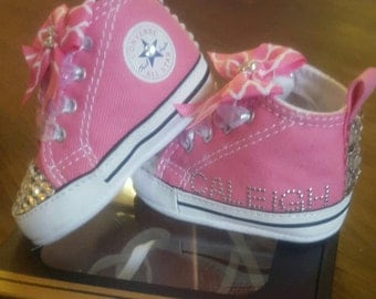 Pink Infant Bling Converse