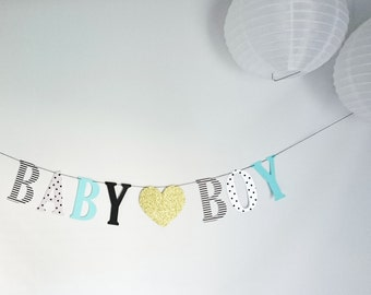 Baby Boy banner, It's a boy, Congratulations, Baby boy, Party decor, Party banner, Baby shower decorations, Welcome baby, Oh baby, Oh boy