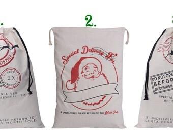 Blank Santa Sacks, Personalized Christmas Santa Sacks, Kids Santa Sack With Name, Christmas Gift Sack
