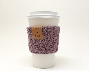 Coffee Cozy, Tea Cozy, Coffee Cup Sleeve, Purple, Lilac, Coffee Cup Cover, To Go Cup Sleeve, Cup Cozy, Cup Sleeve,