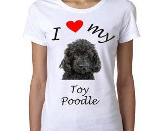 Toy Poodle Shirt - I Heart My Toy Poodle Shirt - Great gift for the Toy Poodle Lover