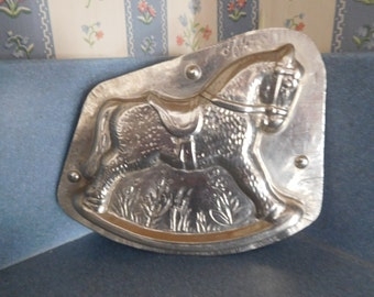 Rocking Horse by Hans Bruhn & Co. #32403 Vintage Metal Candy Mold
