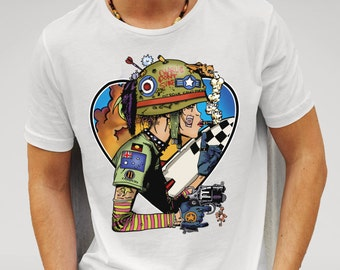 Men's White We Love Tank Girl T-shirt  Features print inspired by art work from the popular graphic novel and feature film 'Tank Girl'.