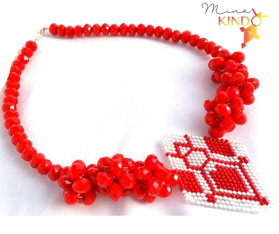 Mina Kindo Red African Necklace