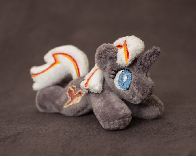 "My Little Pony Fallout Equestria Velvet Remedy Plush toy beanie tiny 5"" minky"