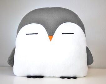 NEW! PLUMM the Penguin pillow grey kawaii handmade < 3