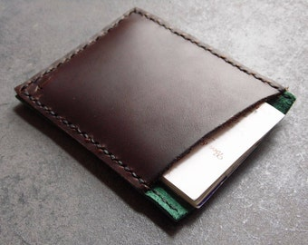 leather wallet, leather card holder, rustic wallet, minimalist wallet, brown leather wallet, card holder, leather card case, slim wallet