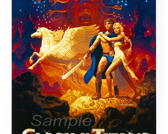 Vintage Clash of the Titans Poster Print