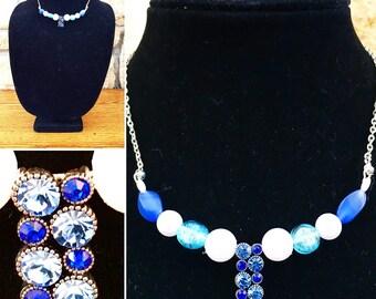 Sparkling Blue Necklace