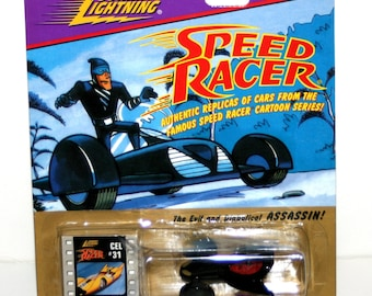 Vintage 1990's JOHNNY LIGHTNING 'ASSASSIN' Diecast Car In Original Package (Speed Racer)