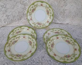 Noritake Marlene Pristine Bread Plates with Gold Trim SET OF 4