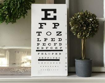 Eye Chart; Snellen Eye Chart; Eye Exam Chart; Eye Exam art; Gallery Wall; Subway Art