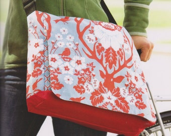 PDF Pattern Tutorial messenger style Shoulder bag handbag purse sewing hand made