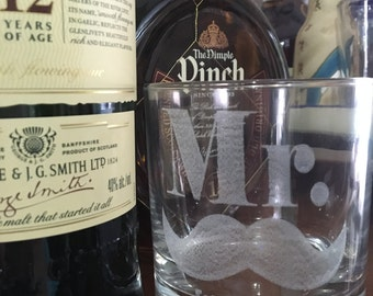 Personalized Whiskey Glass, Gift for Groom, Gift for Him