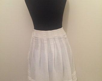 Handmade white layered chiffon midi skirt UK 6-8