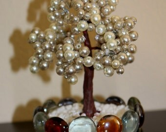mini beaded pearl tree