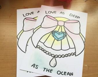 Love as deep as the Ocean A5 print