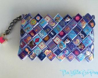 Frozen wallet,Princess wallet, Candy wrapper purse, Handmade wallet, Card holder, Women's wallet. purple wallet