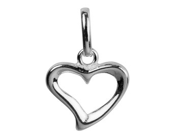 Sterling Silver Open Heart Pendant