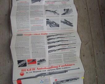 Vintage 1971 Sturm Ruger Gun Pistol Catalog
