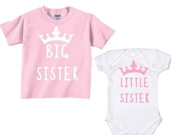 Big Sister Little Sister Shirt set