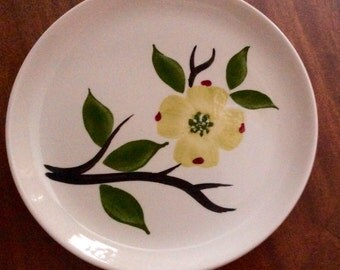 Magnolia Blue Ridge Pottery Bread plates (4)