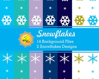 Snowflakes Background Digital Clip Art
