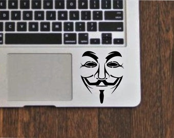 Anonymous mask vendetta die cut vinyl decal sticker for cars, laptops, etc.