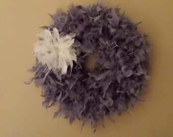 Beautiful Feather Wreath!