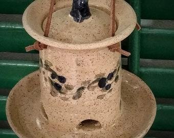 Pottery BirdFeeder