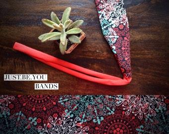 Tie back headband- Moroccan Love