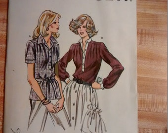 Uncut Kwik Sew 1088 Sewing Pattern Misses Blouse sz 14-16-18-20 Thick Paper Type not Tissue