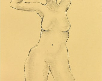 A female life drawing.