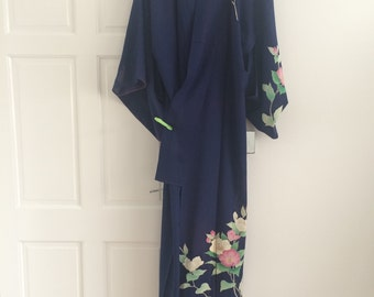 summer navy kimono