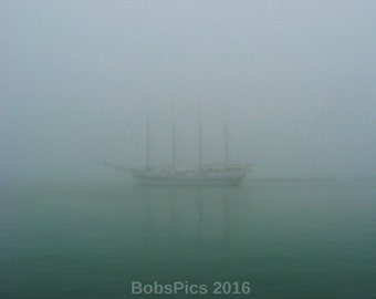 Chicago Photo- Foggy Sail- Navy Pier