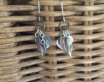 Silver & copper dangles