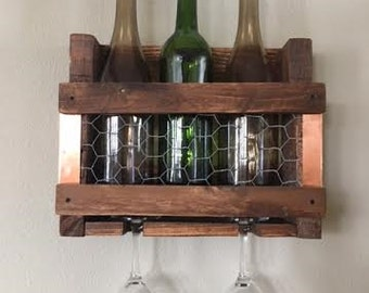 Decorative Wall Wine Rack unique wine rack | etsy