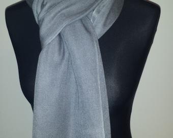 Pashmina Cashmere silk stole Grey