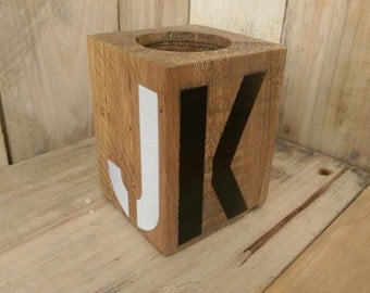 Letter Candle Holders