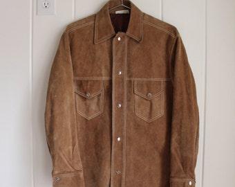 Vintage 1980's Western Suede Jacket